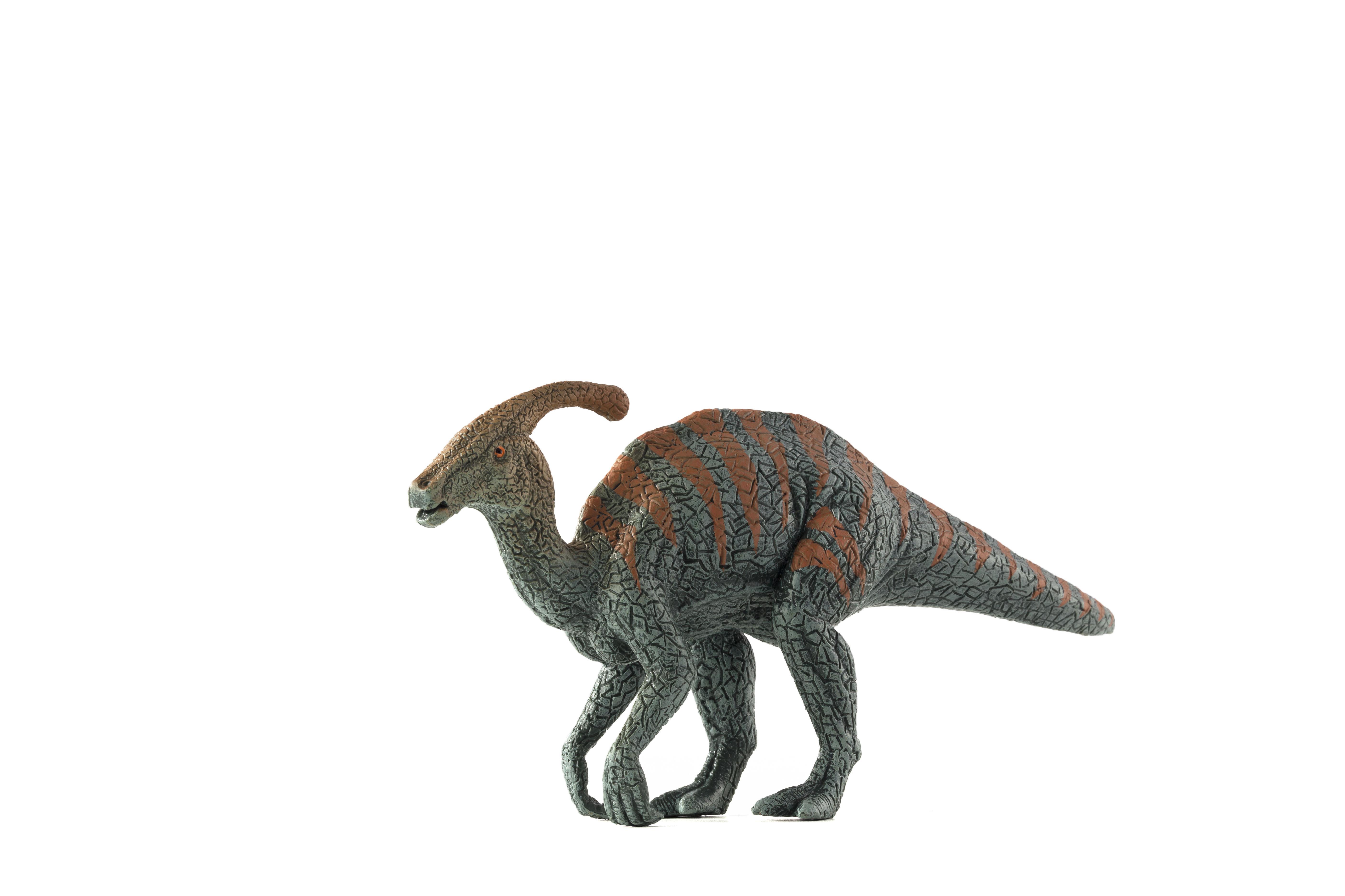 Figurina parasaurolophus cu dungi mojo