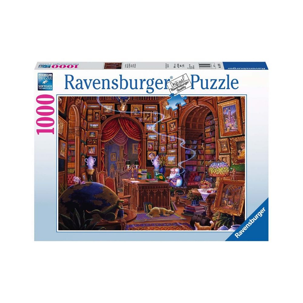 Puzzle copii si adulti biblioteca 1000 piese ravensburger imagine