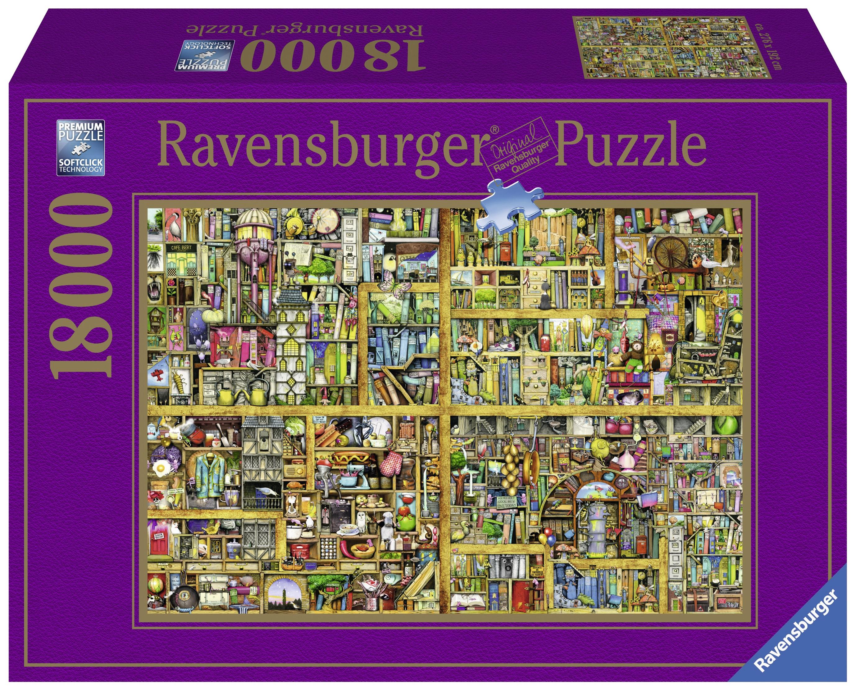 Puzzle adulti biblioteca 18000 piese ravensburger imagine