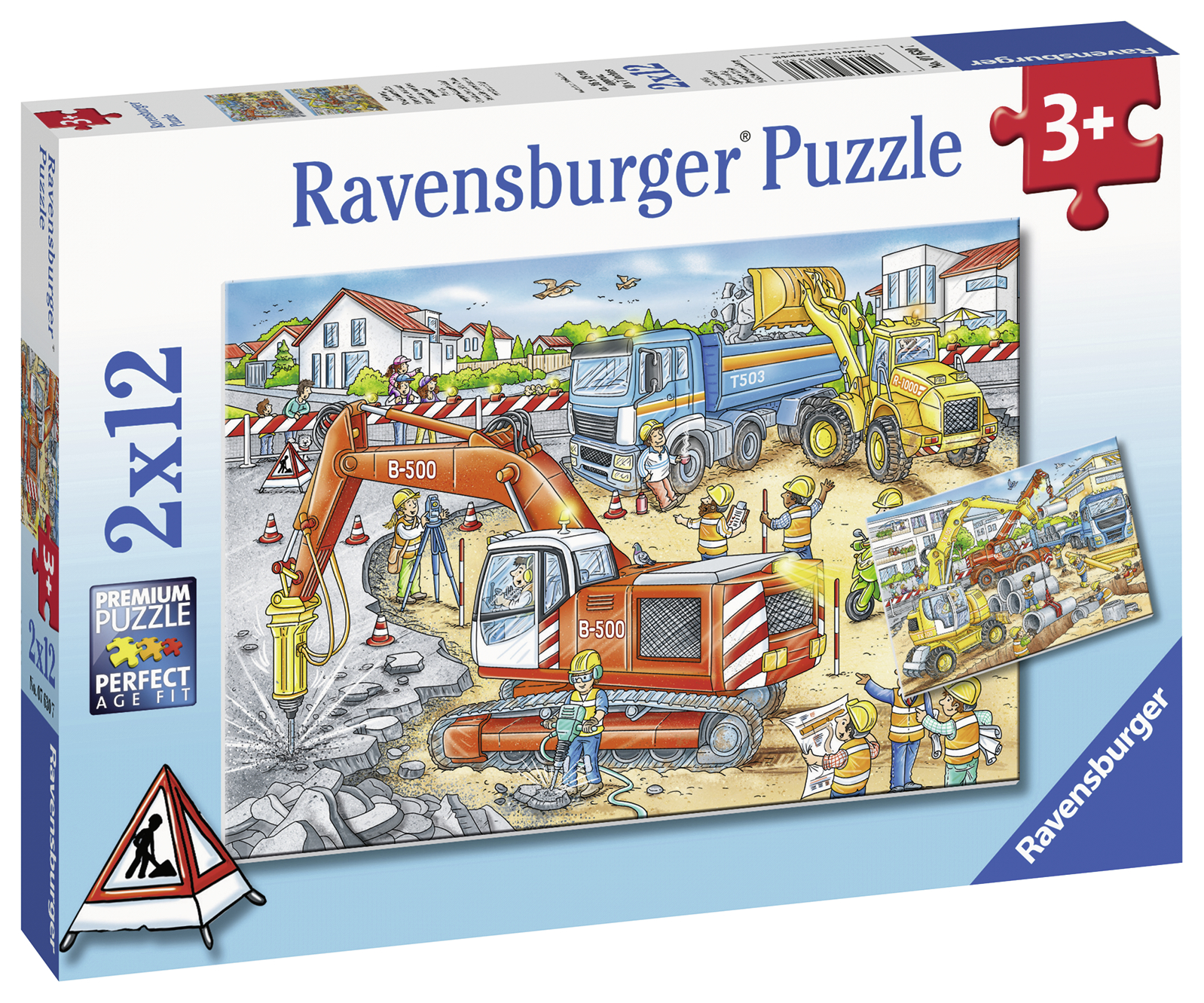 Puzzle santier in lucru 2x12 piese ravensburger