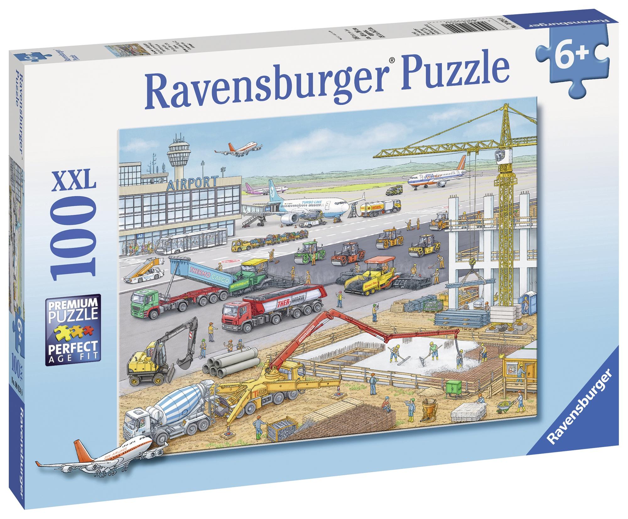 Puzzle santier pe aeroport 100 piese ravensburger imagine