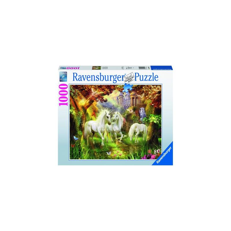 Puzzle copii si adulti unicorni 1000 piese ravensburger imagine
