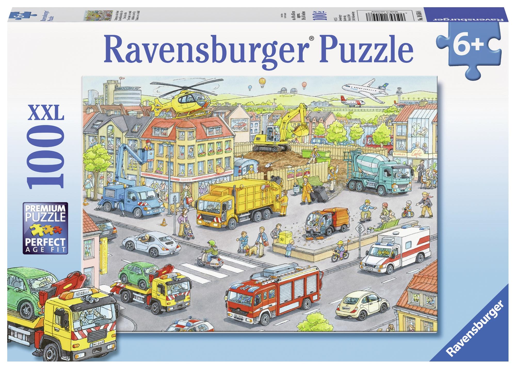 Puzzle utilaje in oras 100 piese ravensburger