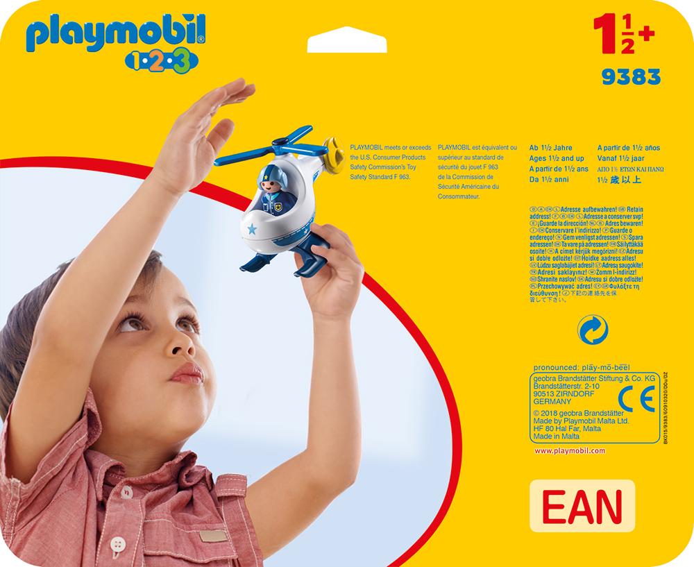 Elicopter de politie playmobil 1.2.3 - 1