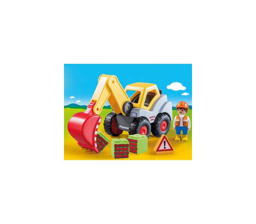 Excavator cu brat mobil playmobil 1.2.3 - 1