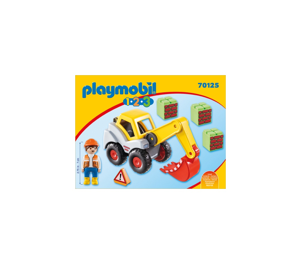 Excavator cu brat mobil playmobil 1.2.3 - 2