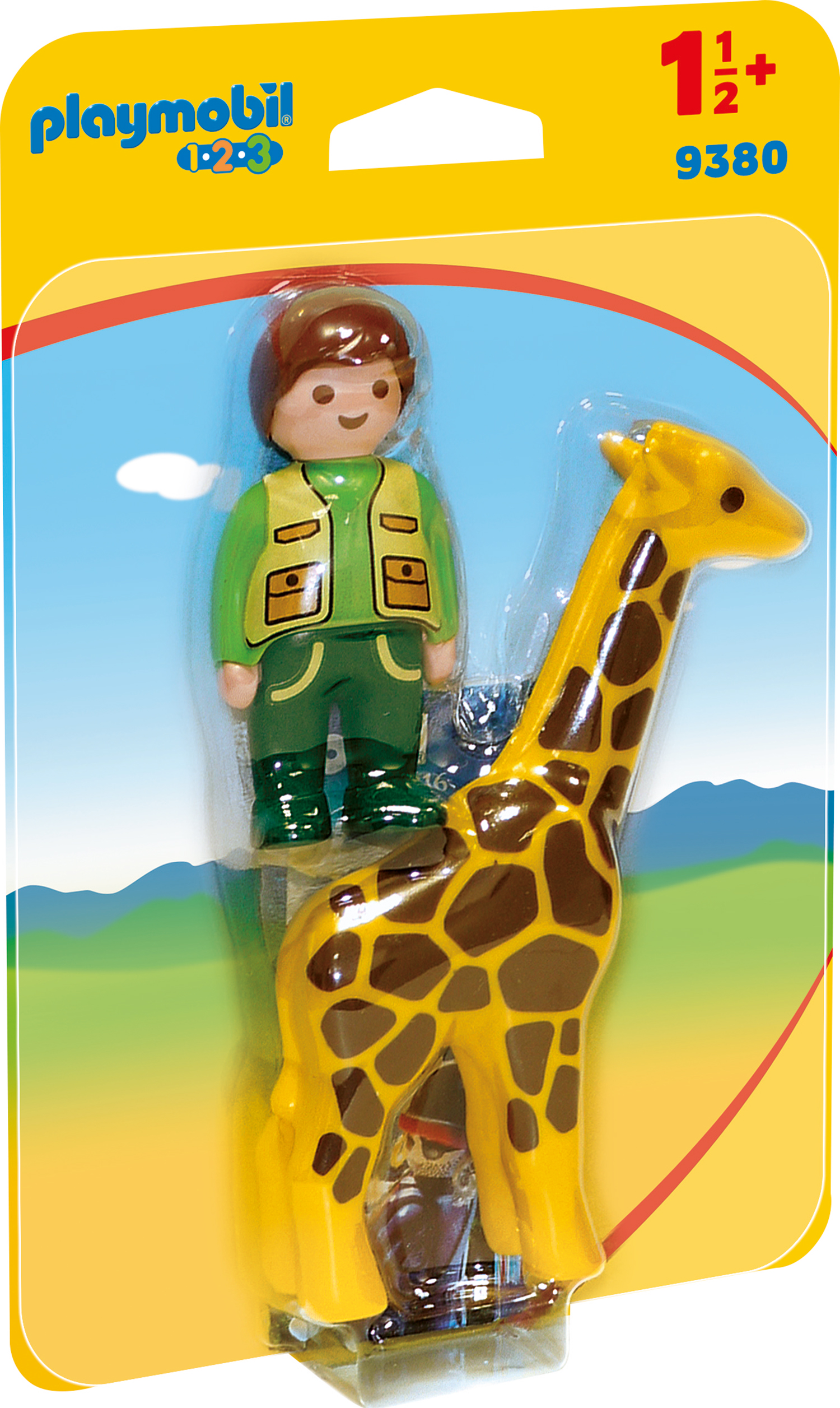 Ingrijitor zoo cu girafa playmobil 1.2.3