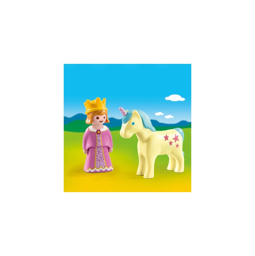 Printesa cu unicorn playmobil 1.2.3 - 2