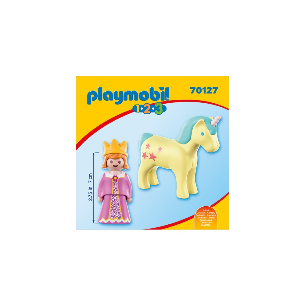Printesa cu unicorn playmobil 1.2.3 - 1