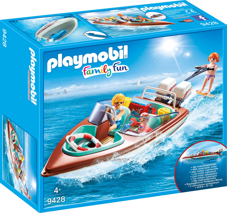 Barca de viteza cu motor playmobil family fun
