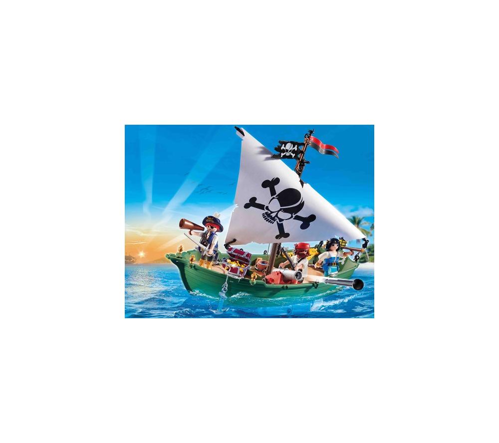 Barca piratilor cu motor playmobil pirates - 2