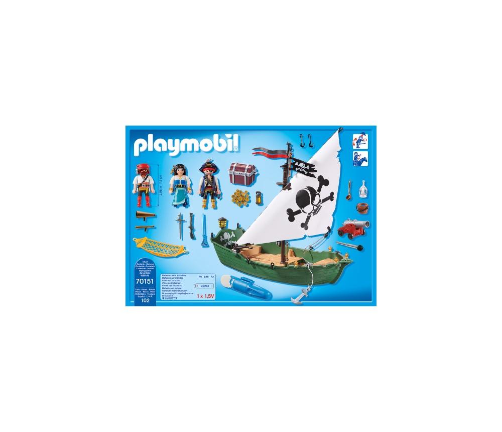 Barca piratilor cu motor playmobil pirates - 1
