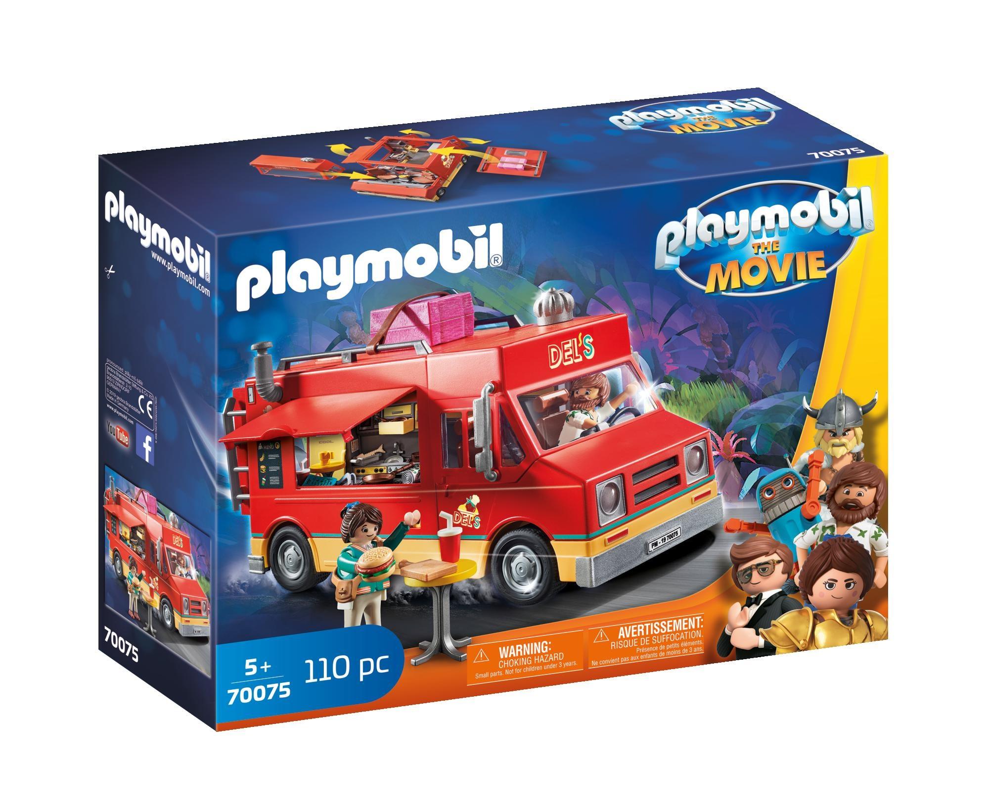 Camionul cu mancare al lui del playmobil movie