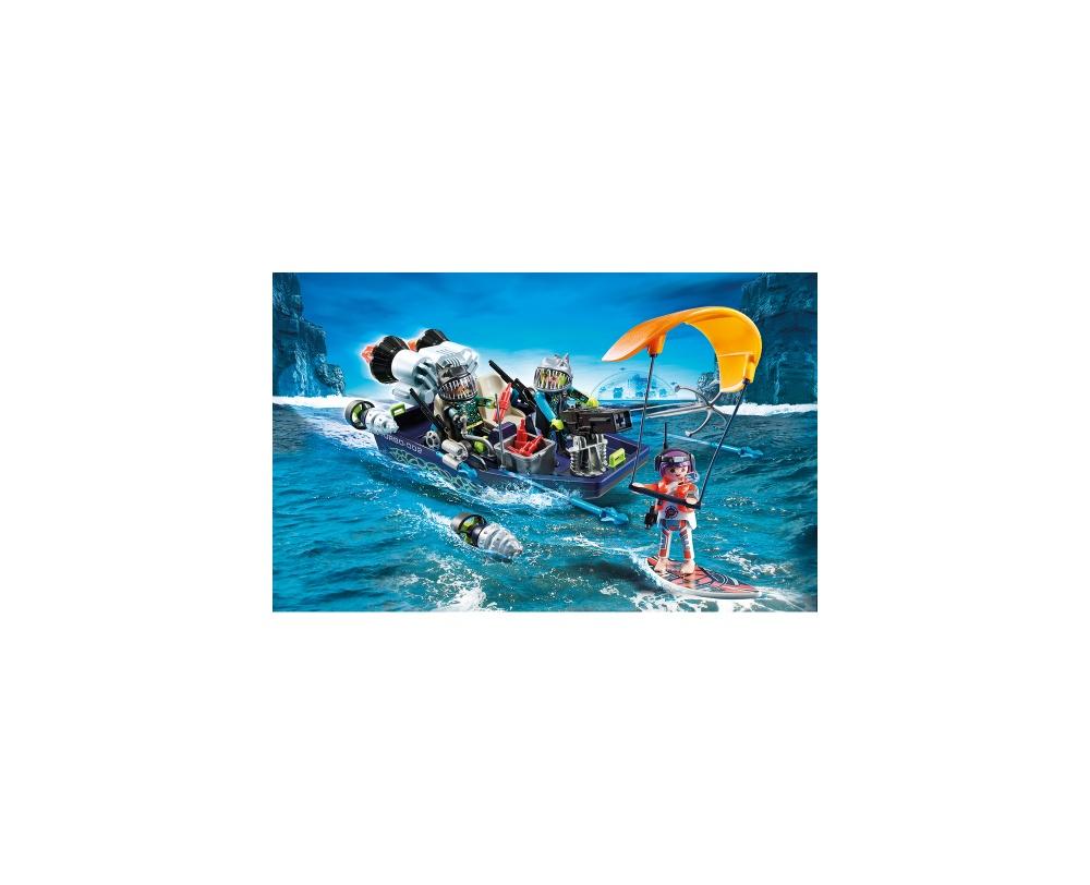Echipa s.h.a.r.k. cu barca playmobil top agents - 1