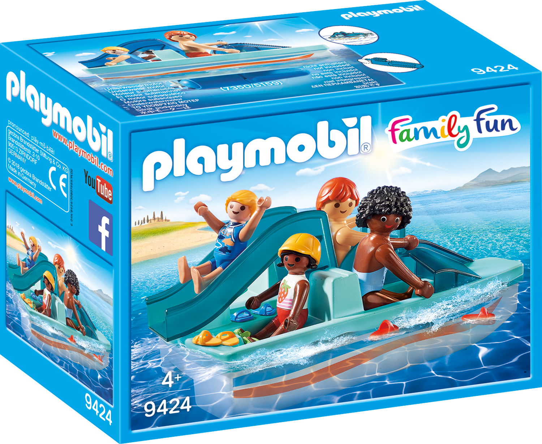 Familie cu hidrobicicleta playmobil family fun