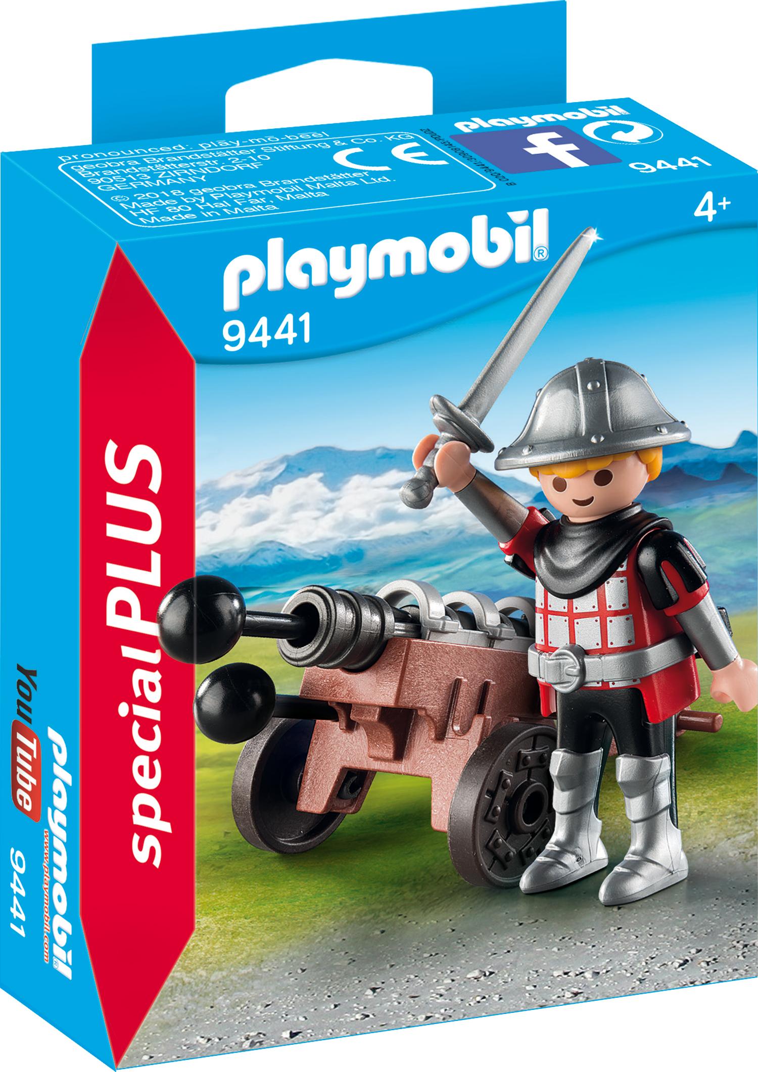 Figurina cavaler cu tun playmobil