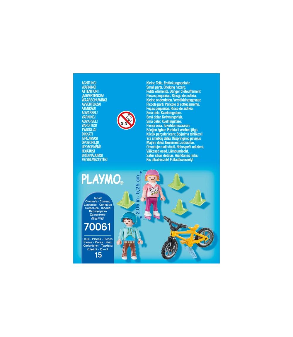 Figurina copii cu role si bicicleta playmobil - 2