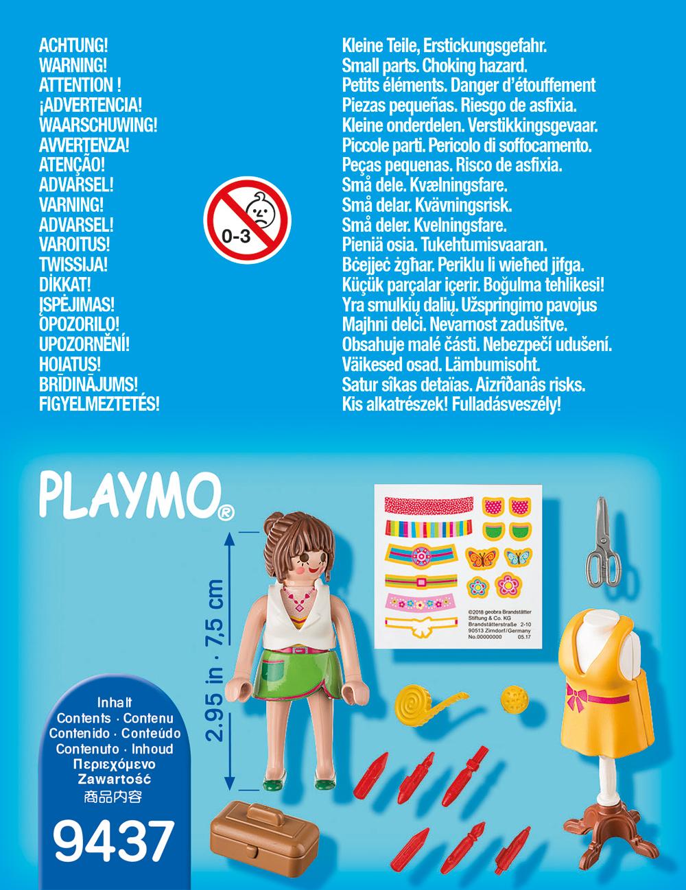 Figurina designer vestimentar playmobil - 1