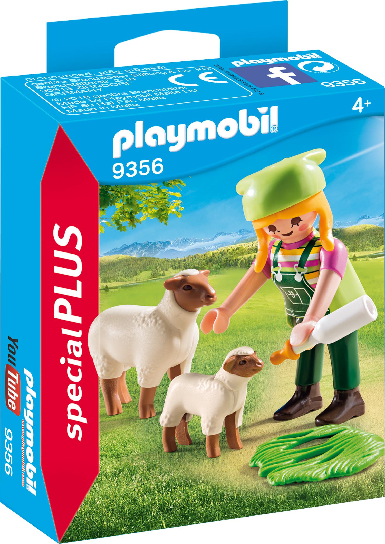 Figurina fermiera cu oi playmobil