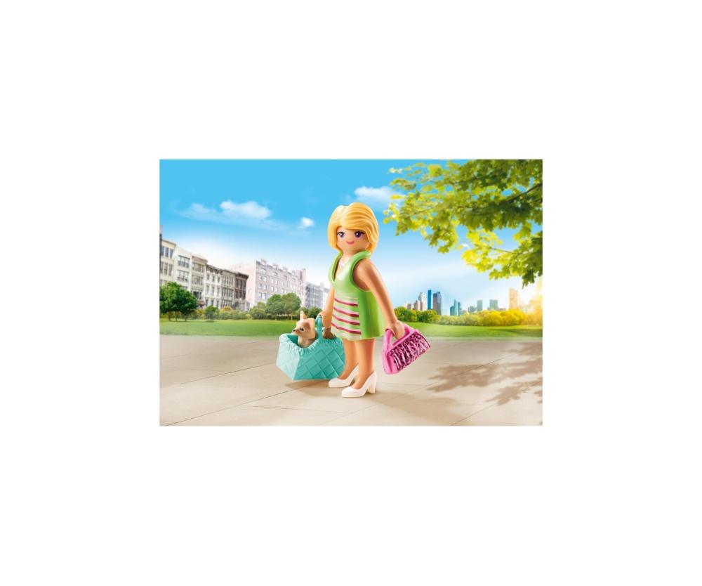 Figurina fetita cu geanta playmobil - 1