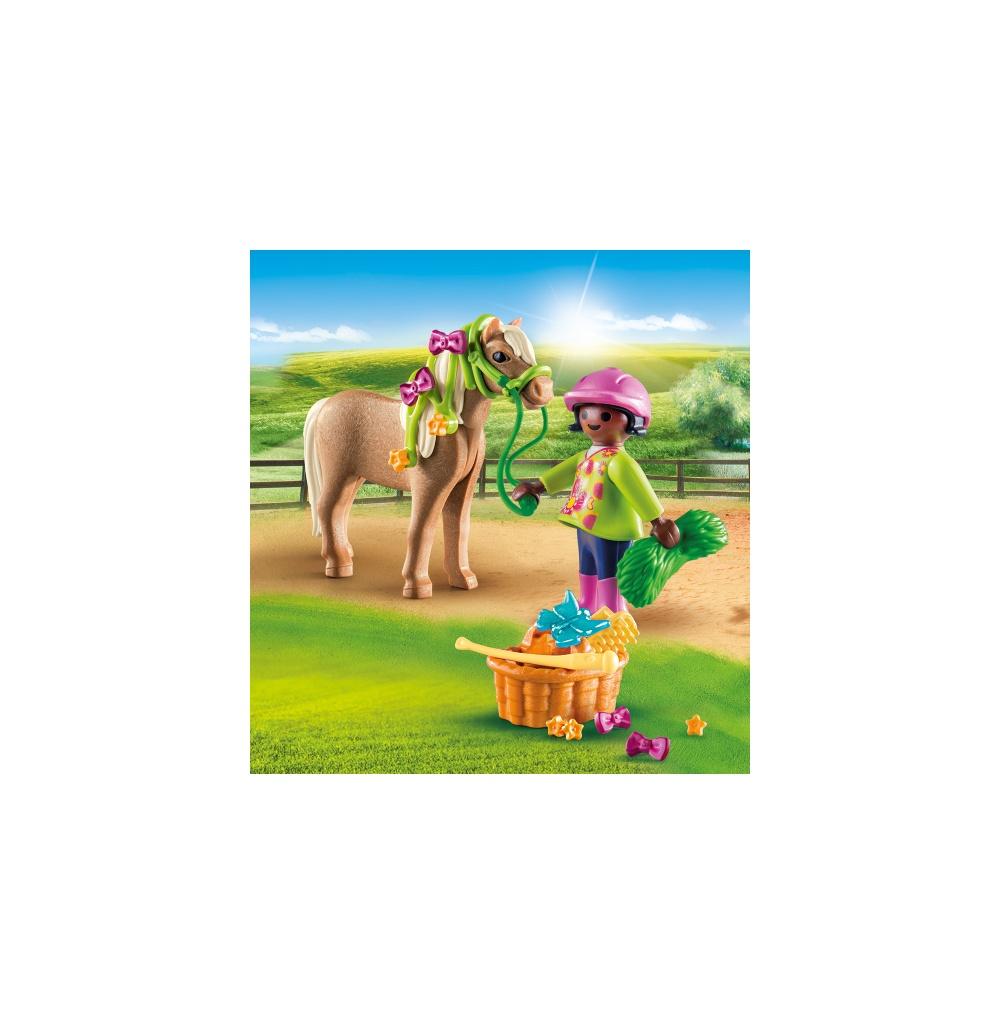 Figurina fetita cu ponei playmobil - 1