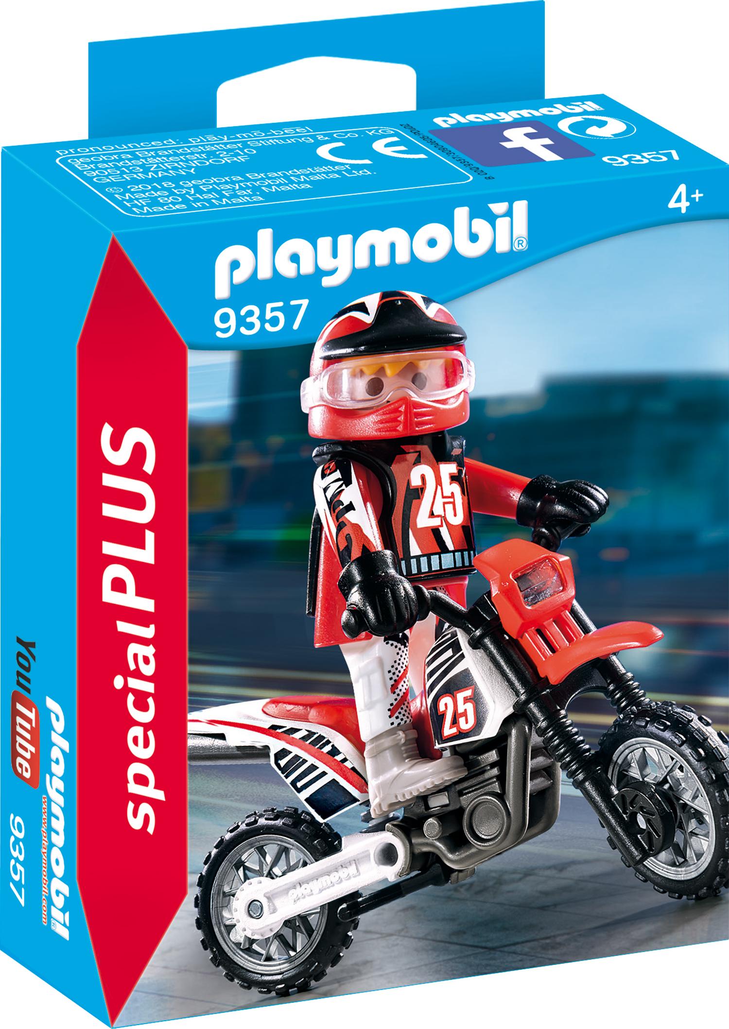 Figurina motociclist playmobil