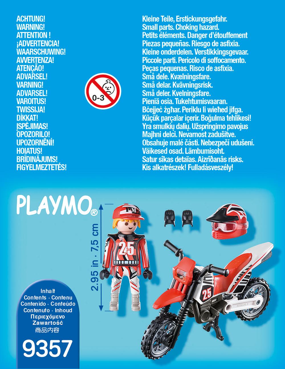 Figurina motociclist playmobil - 1