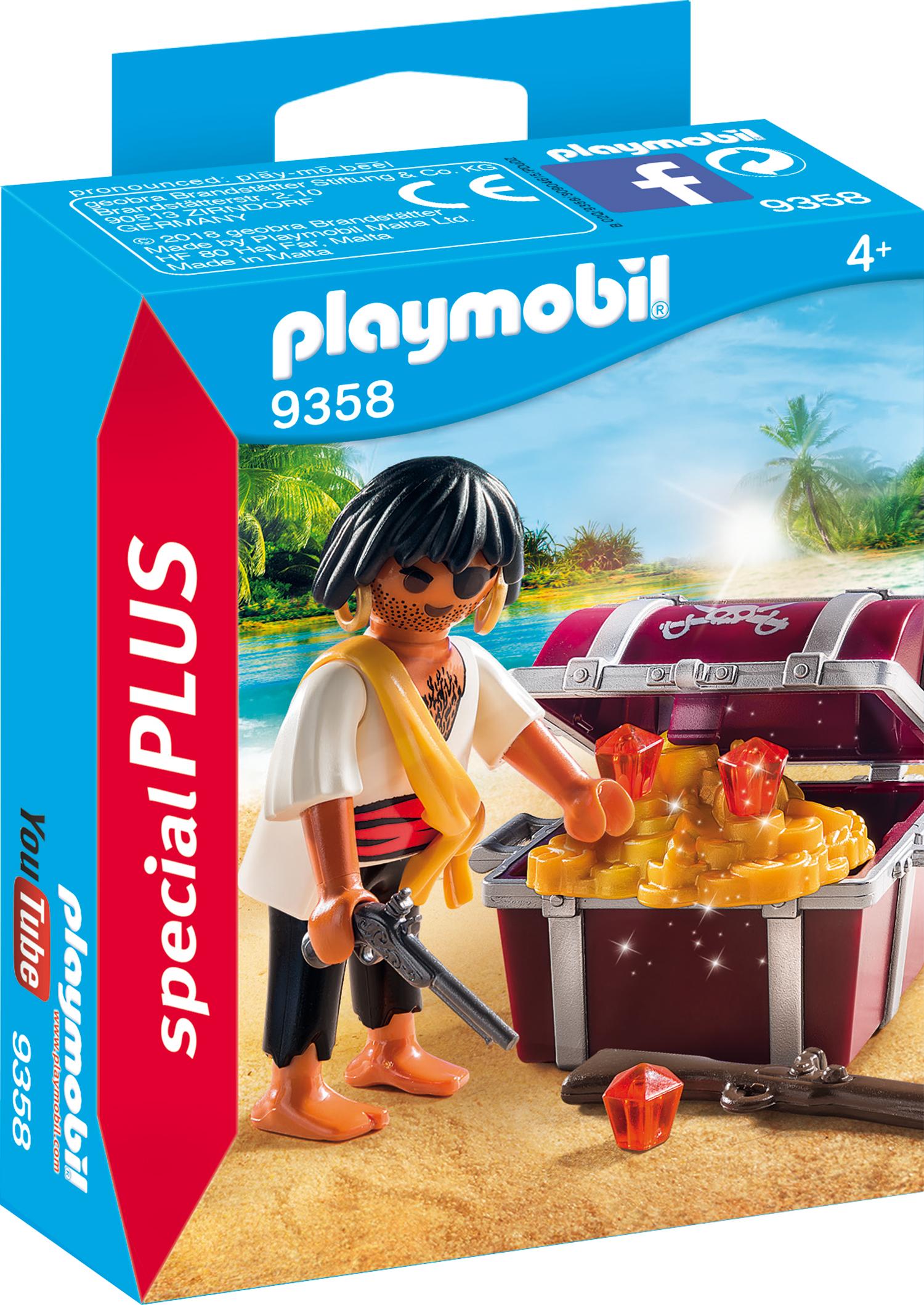 Figurina pirat cu comoara playmobil