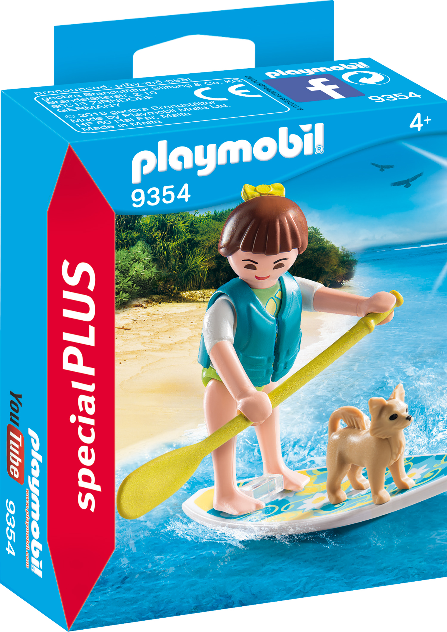 Figurina surfer si catel playmobil