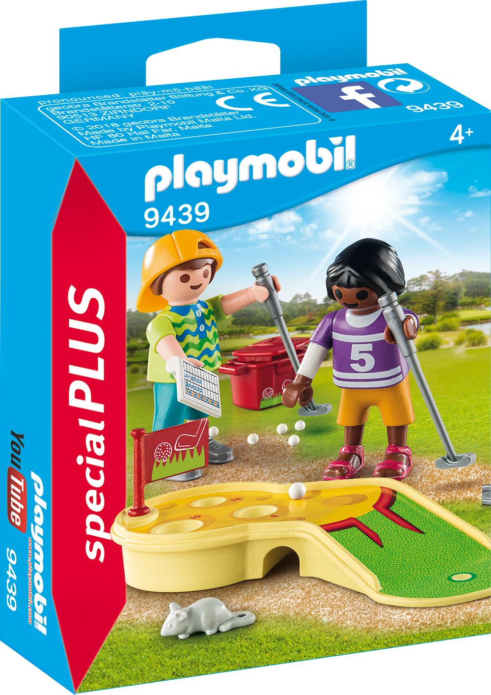Figurine jucand minigolf playmobil
