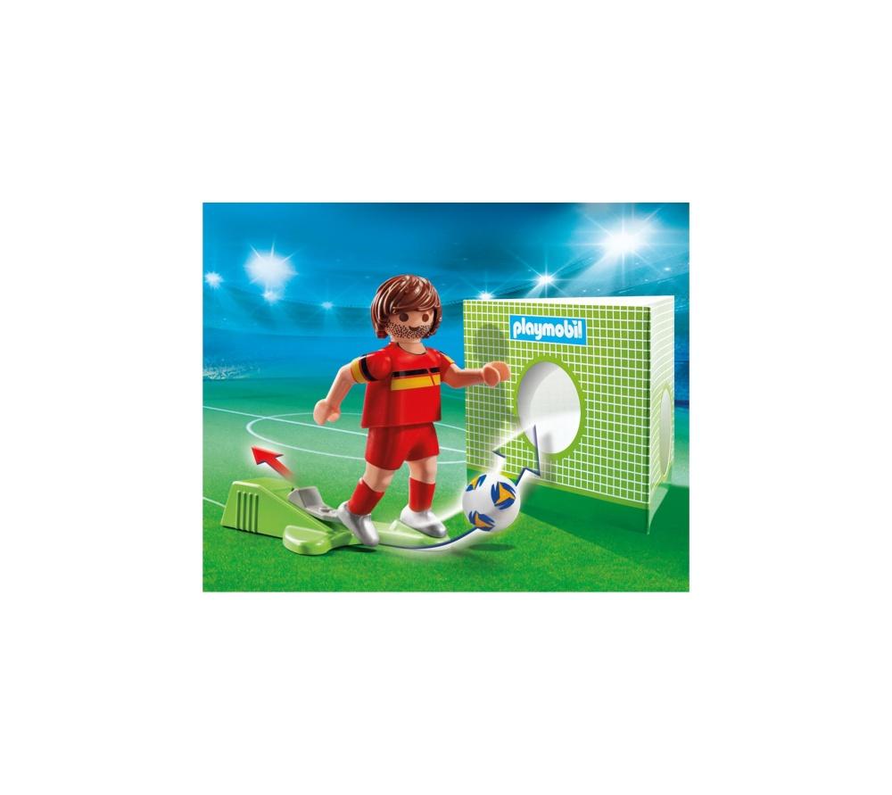 Jucator fotbal belgia playmobil sports action - 2