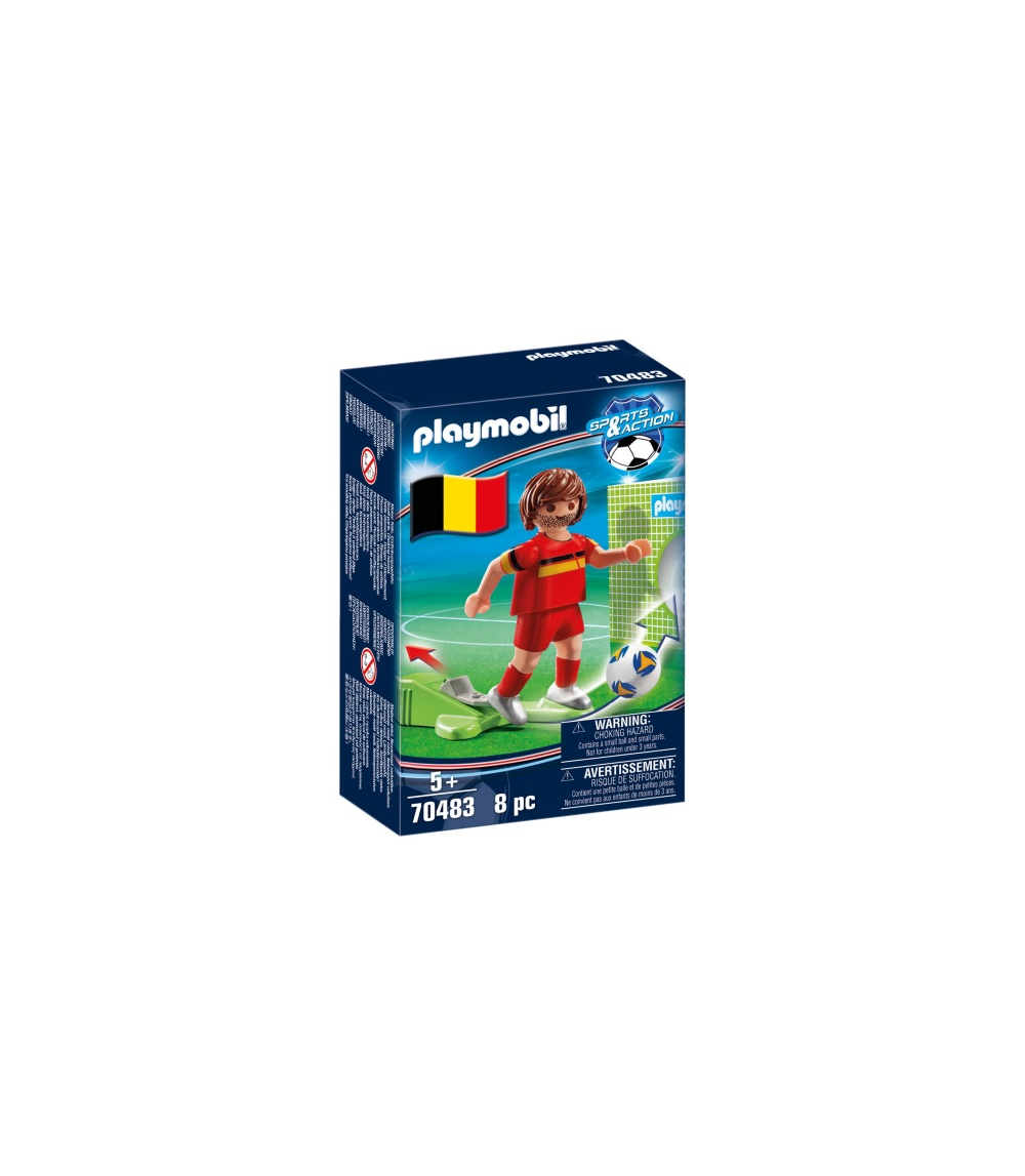 Jucator fotbal belgia playmobil sports action