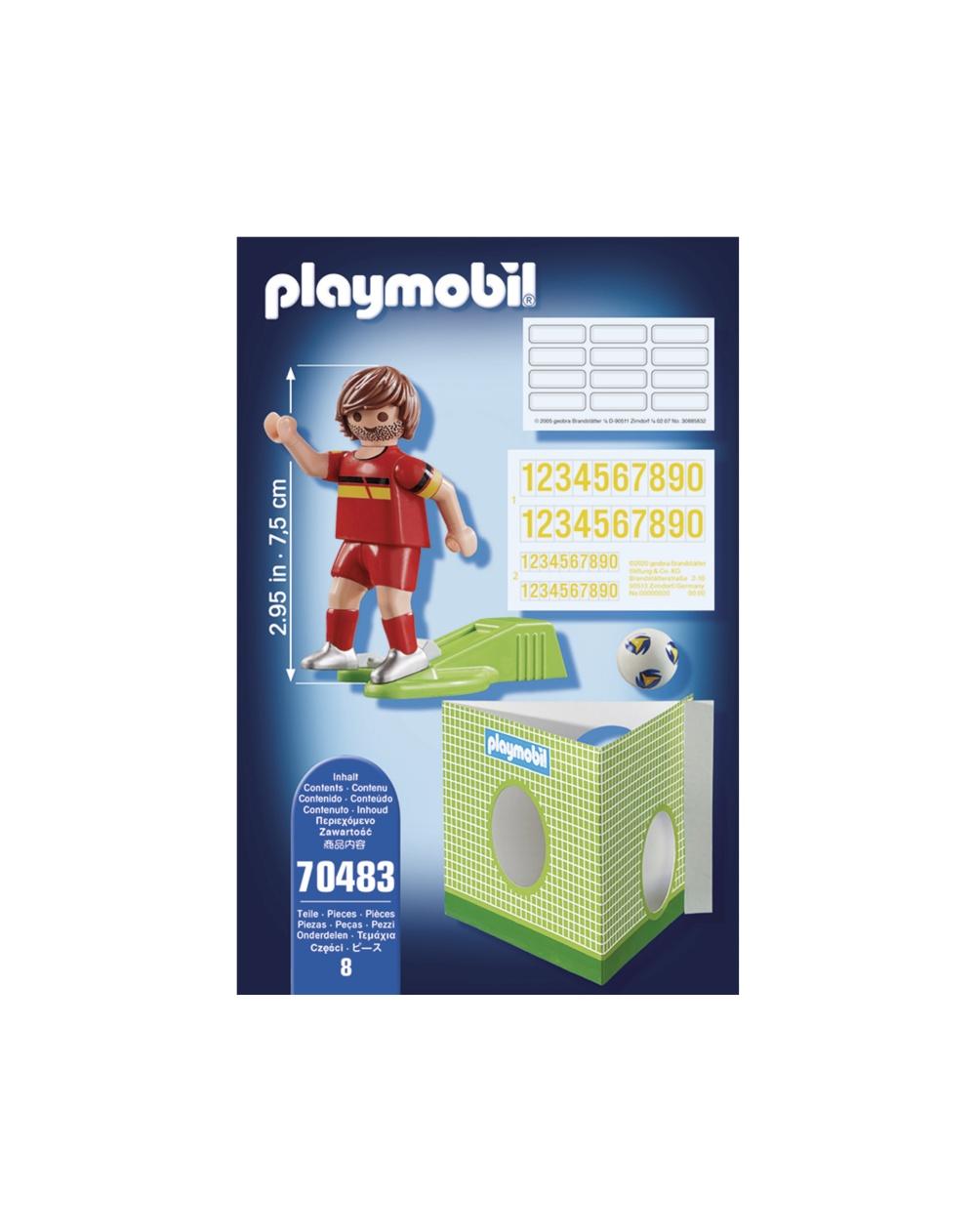Jucator fotbal belgia playmobil sports action - 1