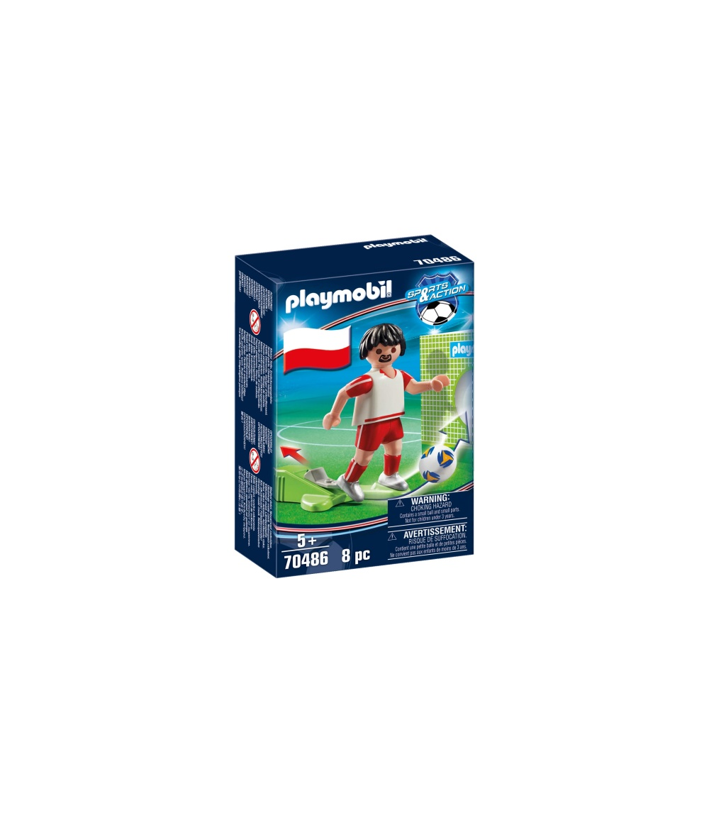 Jucator fotbal polonia playmobil sports action