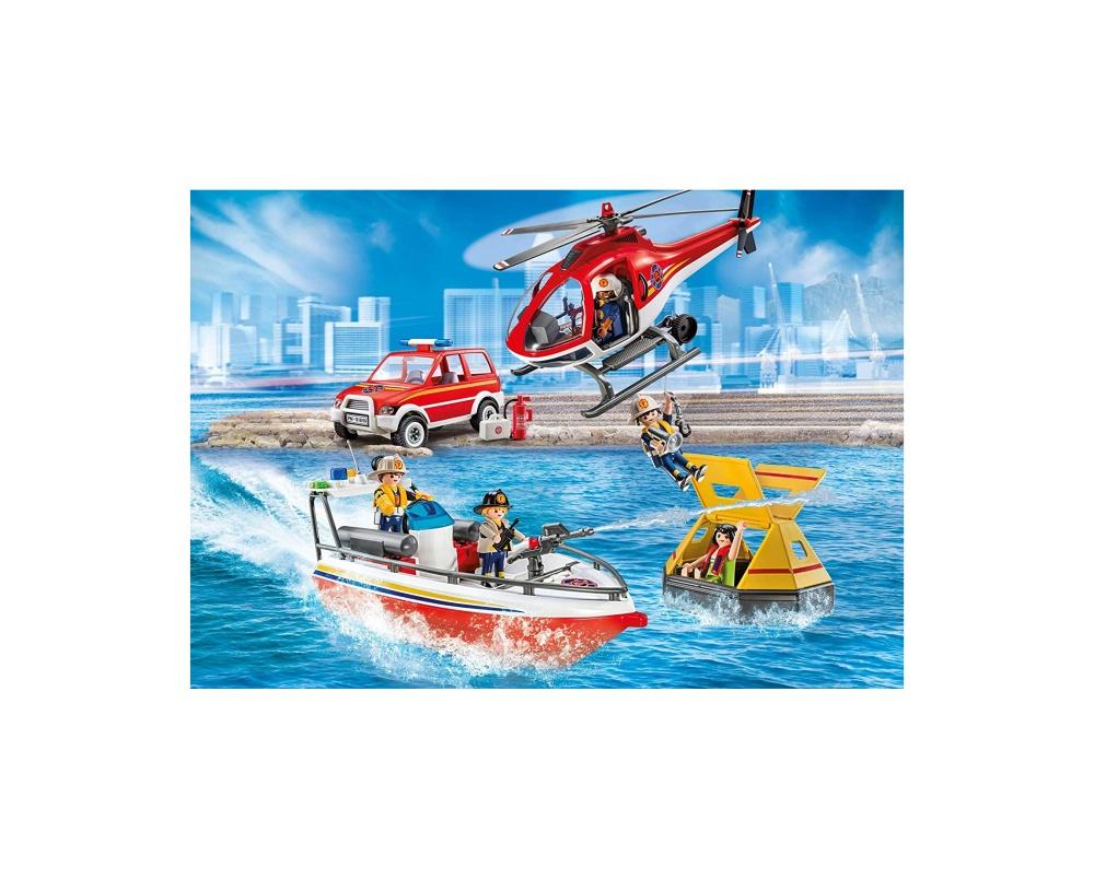 Misiunea de salvare a pompierilor playmobil city action - 2