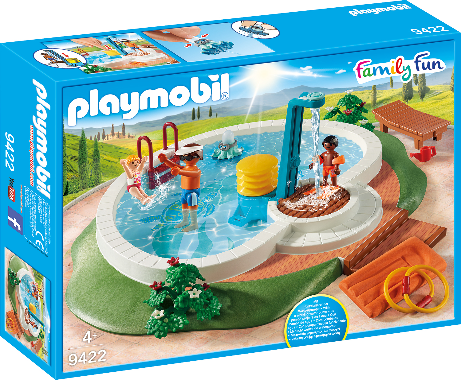 Piscina playmobil family fun