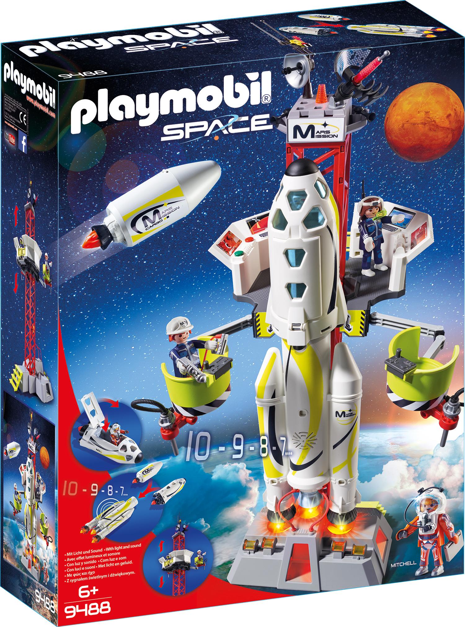 Nava spatiala cu lansator playmobil space