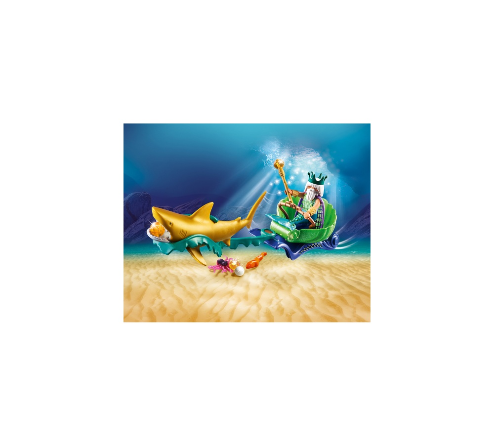 Regele marii cu trasura rechin playmobil magic - 1