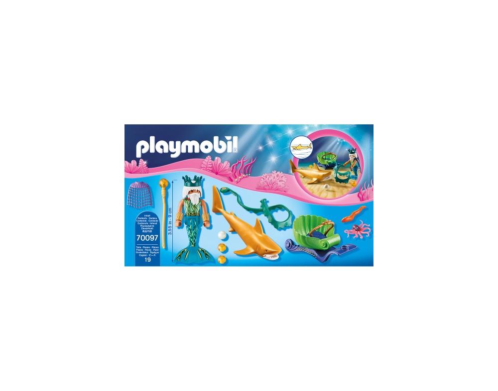 Regele marii cu trasura rechin playmobil magic - 2