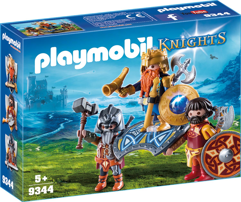 Regele pitic cu gardieni playmobil knights