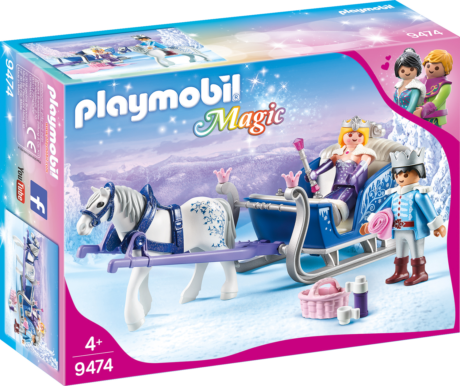 Sanie cu cuplu regal playmobil magic