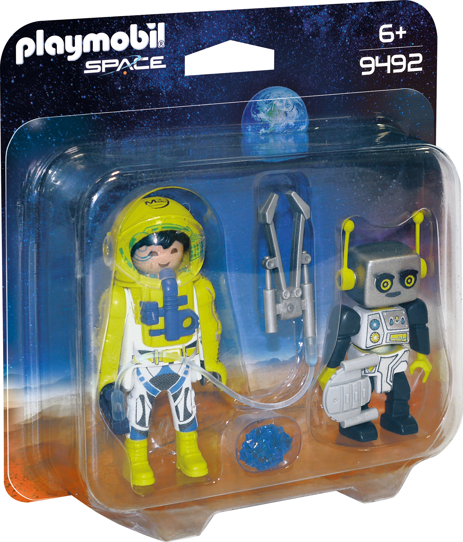 Set 2 figurine astronaut si robot playmobil space