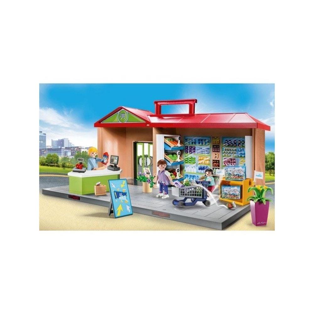 Set mobil magazin alimentar playmobil city life - 1