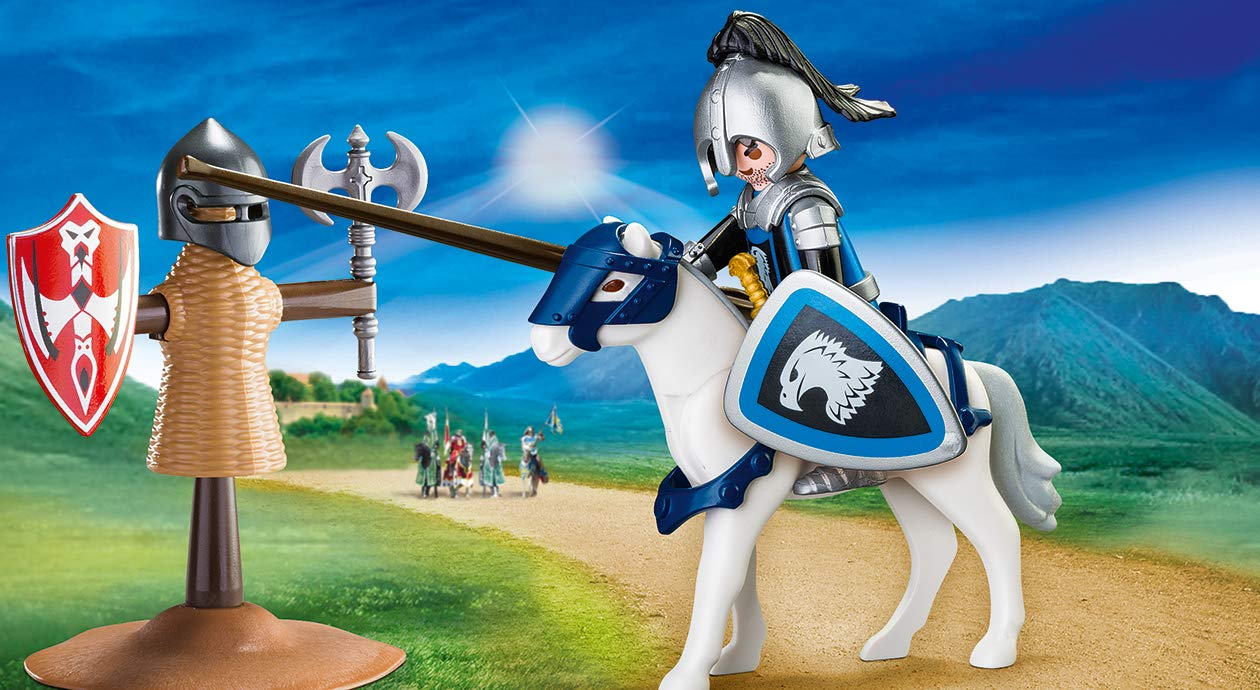 Set portabil cavaler si cal playmobil knights - 1