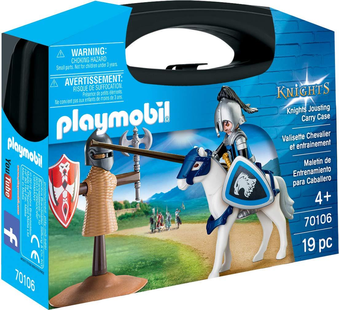 Set portabil cavaler si cal playmobil knights