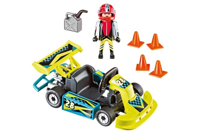 Set portabil masinuta de curse playmobil action - 1