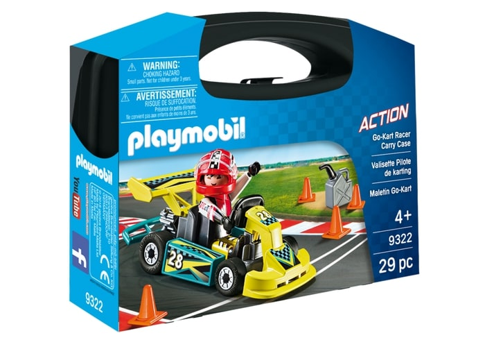 Set portabil masinuta de curse playmobil action
