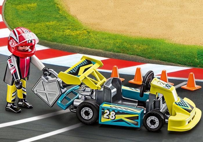 Set portabil masinuta de curse playmobil action - 2