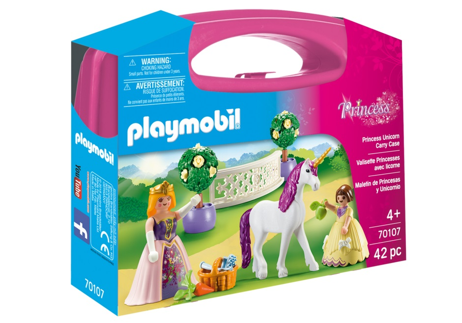 Set portabil printese si unicorn playmobil princess