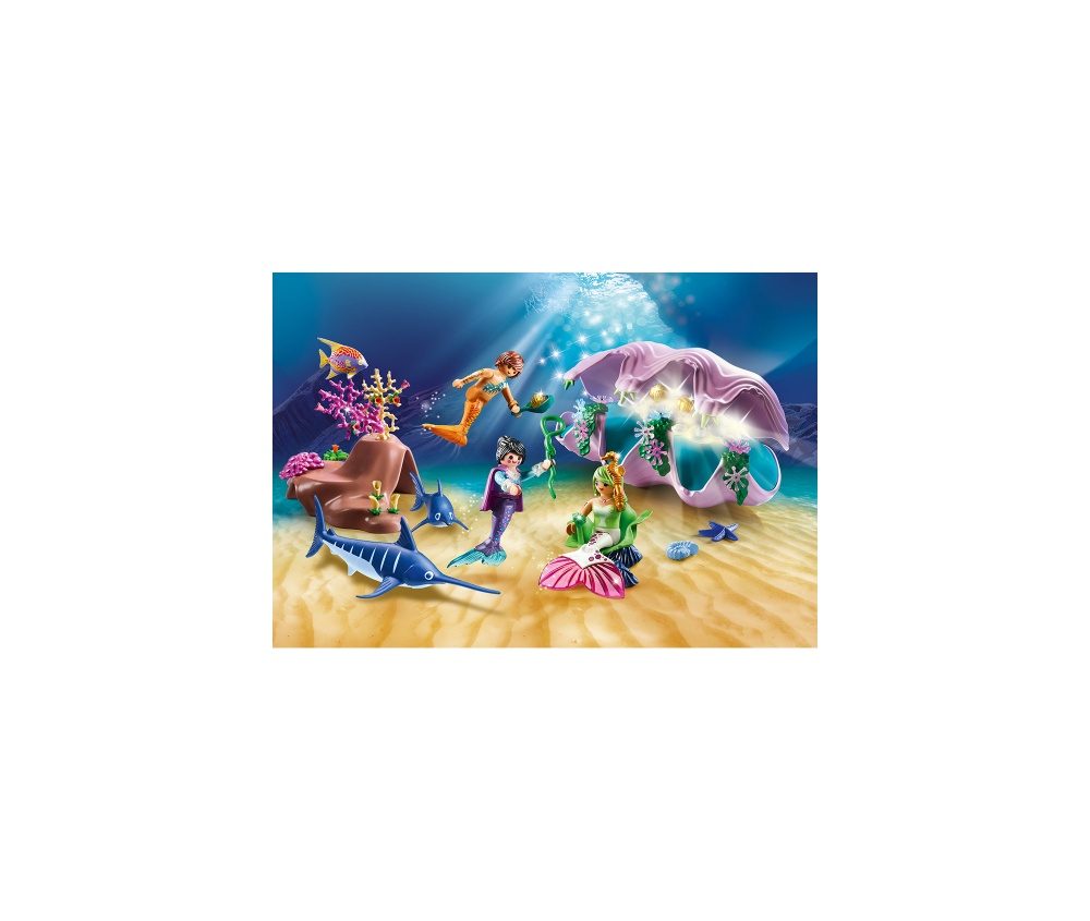 Sirene cu cochilie si perle playmobil magic - 2